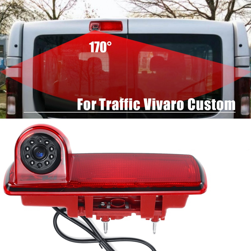 Car Rearview Camera Camera Brake Light Camera Waterproof For Renault Traffic Vivaro Custom