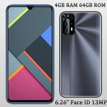 6.26 polegada tela y9 frente/câmera traseira 5mp + 13mp face id 4g ram + 64g rom smartphones globais desbloqueado telefones celulares android celuares