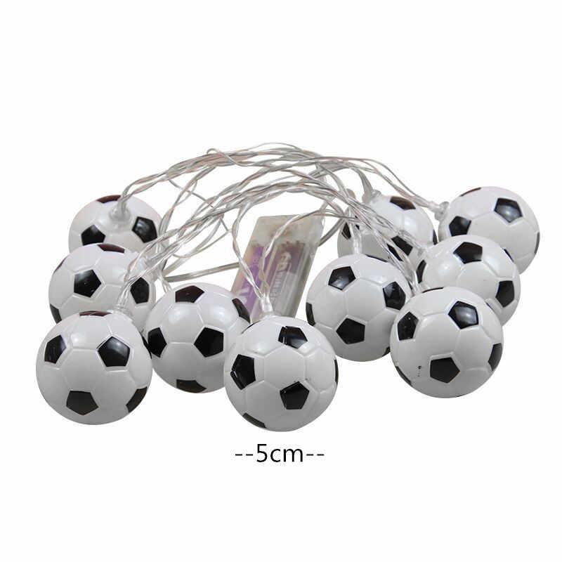 10 LEDs Fußball String Lichter DIY Fußball zubehör Atmosphäre für Bar Club Party Dekoration Fans Liefert Welt Tasse