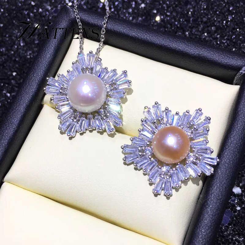Pearl Jewelry สร้อยคอไข่มุกธรรมชาติ 925 เงินสเตอร์ลิงจี้ Super Luxury Zircon จี้สำหรับงานแต่งงานของผู้หญิงอุปกรณ์เสริมวันเกิดของขวัญโบฮีเมียใหม่