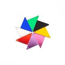 Ctpa3bi треугольник 18х33мм акриловое зеркало шитье Стразы сделай