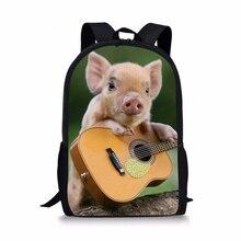 HaoYun Kids Fashion Backpack The Little Pigs Pattern Childrens School Bag Kawaii Animal Toddler Bags Women Backpacks