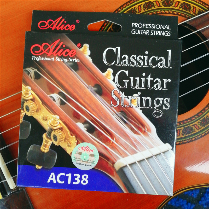 Alice AC138-N/H High-end Importados Cristal De Cordas Da Guitarra Clássica cordas de Nylon Cordas de UM conjunto de 6