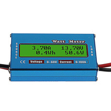 купить Digital Solar Battery Capacity Tester Panel Capacity Meter DC 60V Voltage Current Power Analyzer Energy Meter for RC Hobby онлайн