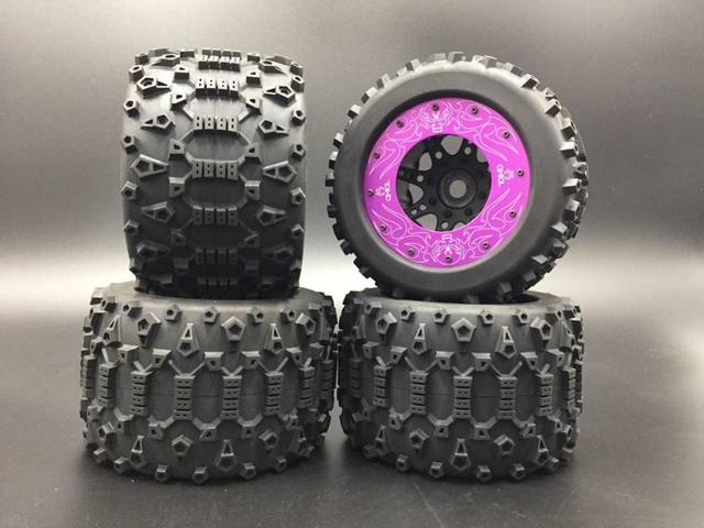 1/8 RC TD TORLAND  BRUSHLESS TRUCK Knobby Tire Set 4pcs Hex 17mm 18 HPI savage 4.6F 5.9X