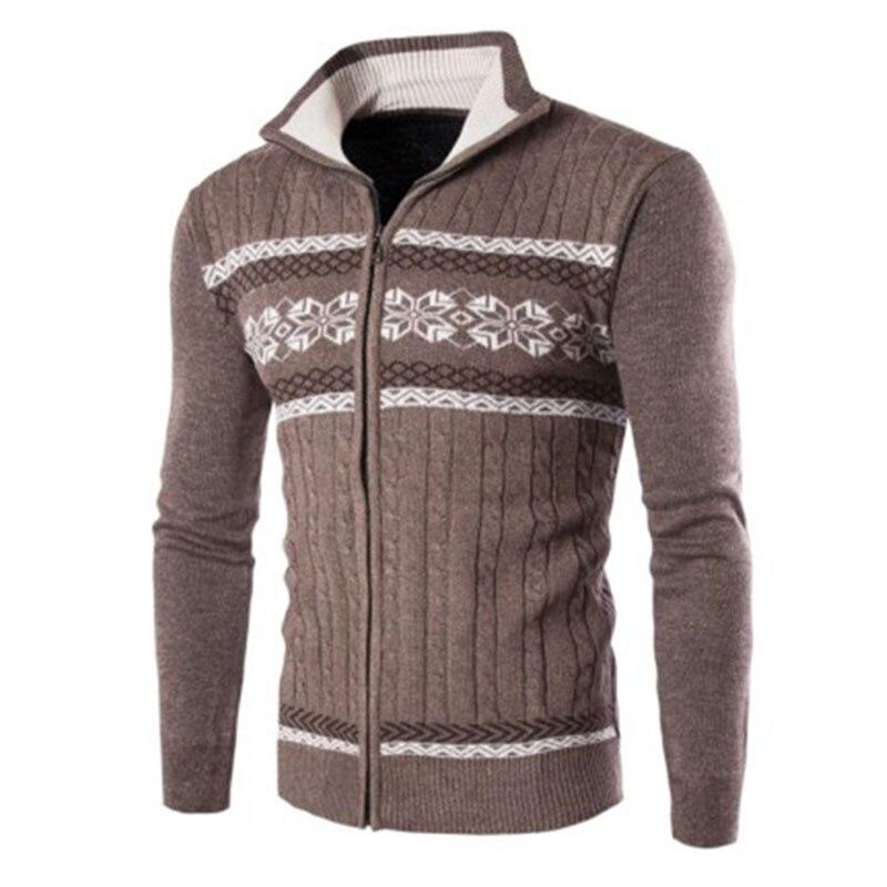 2019 Autumn And Winter Fashion New Men's Casual Cardigan Lapel Zipper Sweater Coat / Men's Long Sleeve Knit Sweater