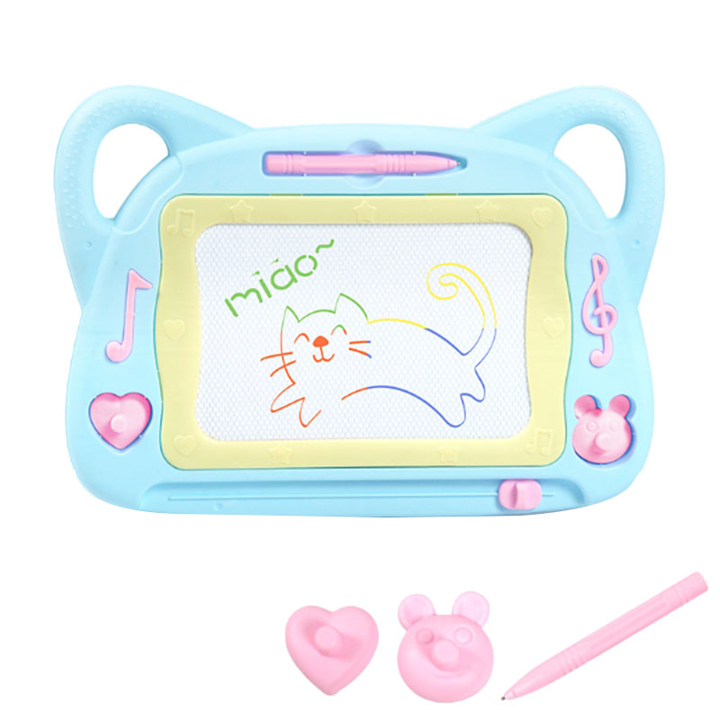 Children's Magnetic Drawing Board, Color Graffiti Board, Rewritable Sketch Pad, With Seal, Magnetic Pen, Children's Toddler Boy