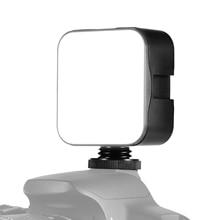 Andoer מיני LED וידאו אור צילום למלא מנורת 6500K Dimmable 5W עם קר נעל הר מתאם עבור Canon Sony DSLR מצלמה
