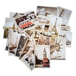 Image 5 - 7 упаковок/партия, открытки для студентов, 32 шт./компл., Новая Винтажная архитектурная дорожная открытка с пейзажем, Набор открыток, поздравительная открытка, Подарочная открытка