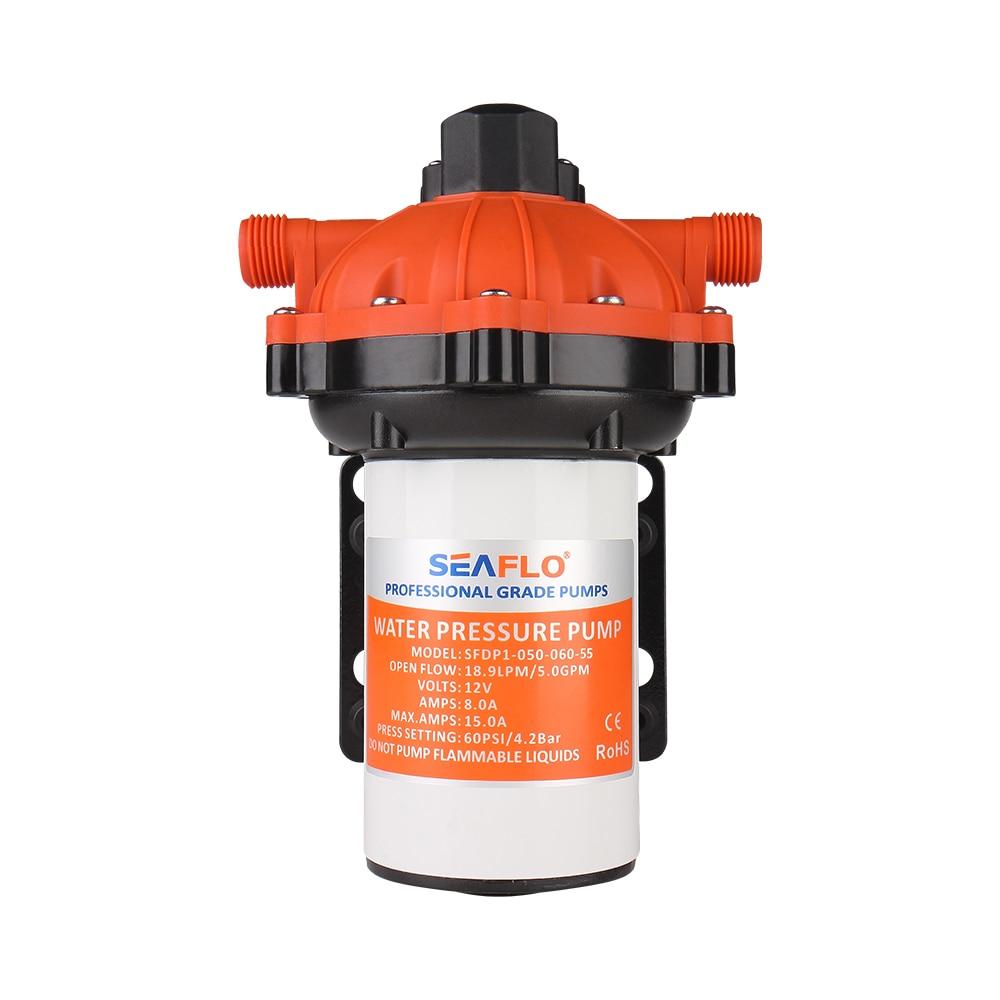 12v SEAFLO 51-Series Water Pressure Diaphragm Pump 5.5GPM 60PSI for RV//Boat