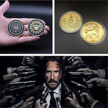 Colección de monedas de la película John Wick, réplica de monedas de oro de Decision de Hotel Continental, accesorios de Cosplay, insignia