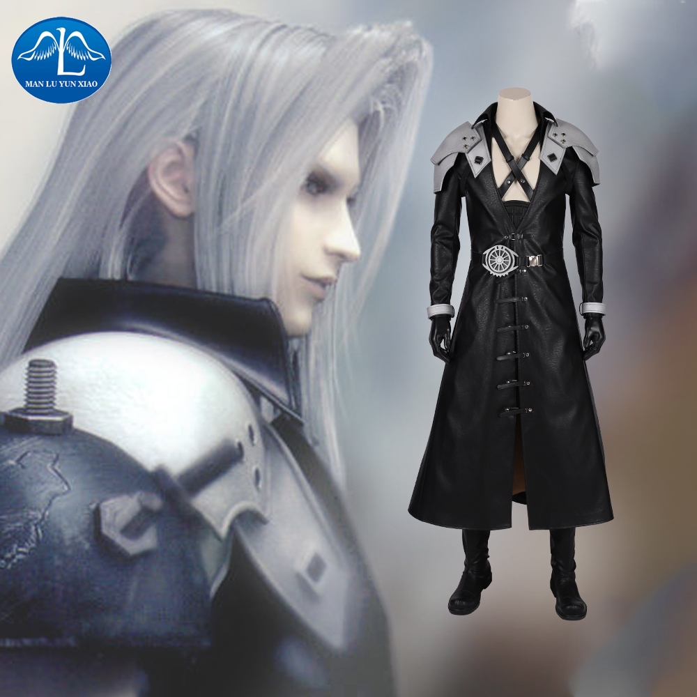 Manluyunxiao FF VII Remake Sephiroth Final Fantasy Cosplay Costume Adult Men Halloween Carnival Costumes Custom Made Game image