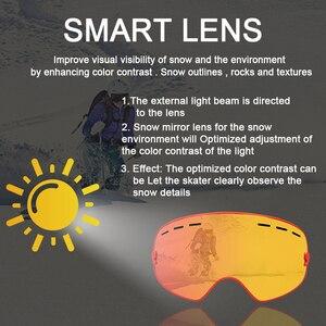 Image 3 - Phmax óculos de esqui de inverno com máscara de esqui snowboard óculos de esqui camadas duplas uv400 proteção anti nevoeiro neve óculos de esqui