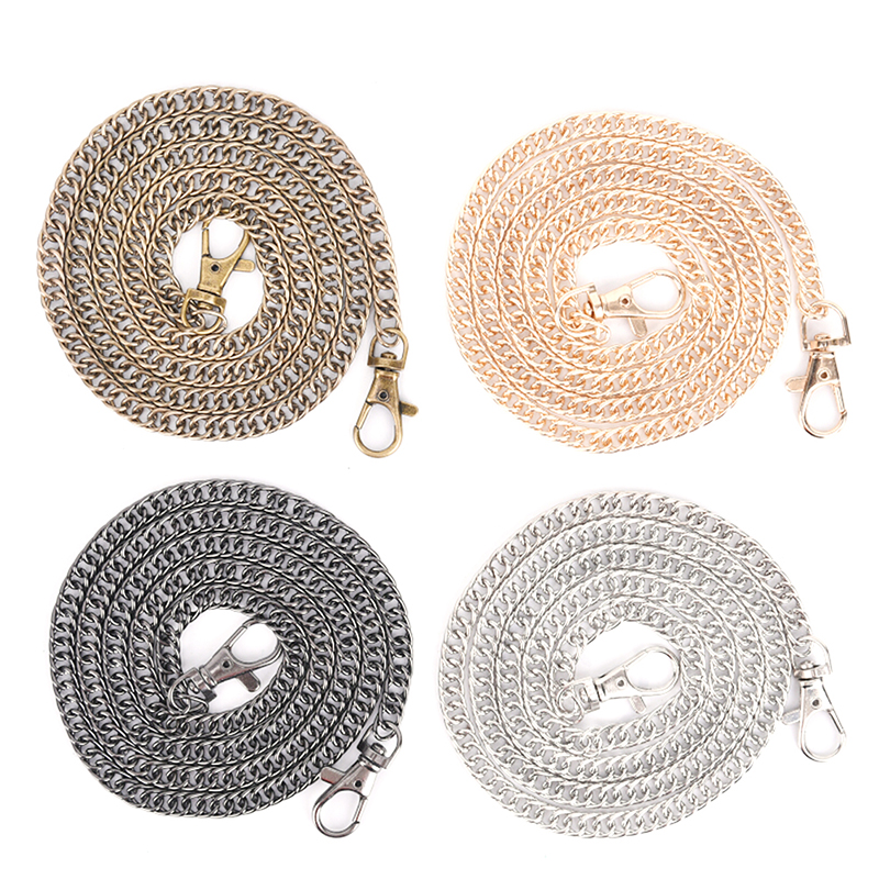 1PC 100cm Handbag Metal Chains With Buckles For Bag DIY Purse Chain Shoulder Bags Straps Handbag Handles Bag Parts & Accessories