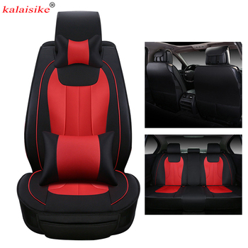 kalaisike leather Universal Car Seat Covers for Hyundai all models i30 iX35 elantra terracan accent azera tucson iX25 lantra