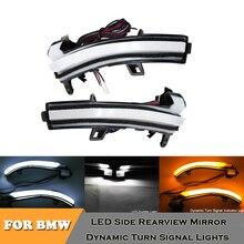 цена на car Dynamic rearview mirror puddle light DRL turn signal lamps  for BMW i3 X1 E84 F32 F33 F36 F30 F31 F34 F22 F23 F20 F21