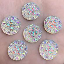 Każdy rozmiar kryształ AB żywica Flatback dżetów okrągłe kryształowe kamienie bez mocowania na gorąco księga gości Strass dla majsterkowiczów-HB39