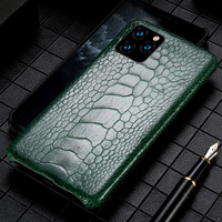 Genuine Leather Ostrich feet phone case for iPhone 11 11 pro max 11 pro 5 6 6 plus 7 8 plus X XS XSmax XR Luxury Anti fall Cover