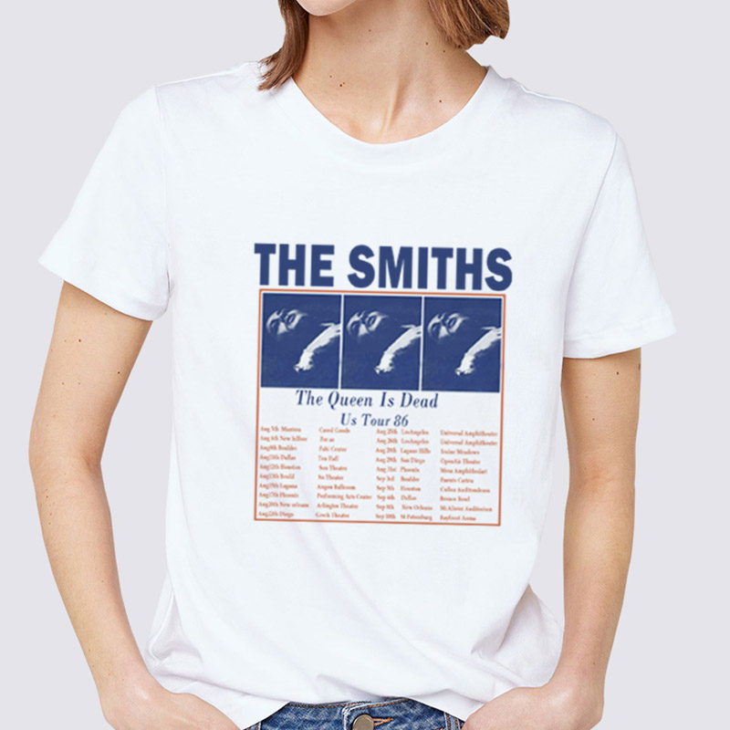 The Smiths Printing Girl T Shirt New Fashion Summer Women Rock Band Top Short-sleeved O Neck Casual Harajuku T-shirts Plus Size