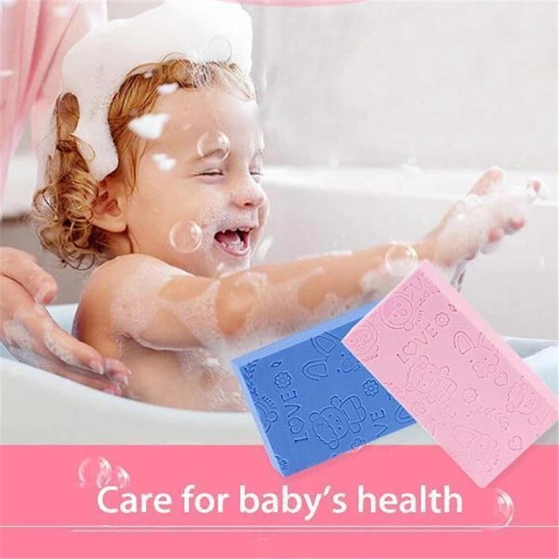 1 Pcs Child Baby Rubbing Artifact Back Sponge Bath Sponge Baby Adult Bath Rubbing Gray Rubbing Mud Strong Sponge Wipe