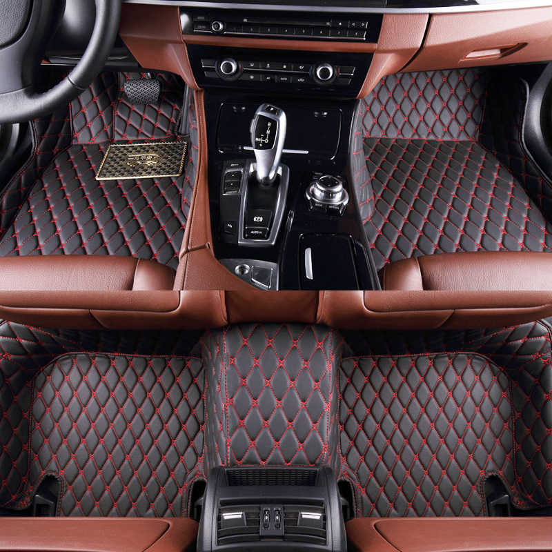 שטיח רצפת רכב עבור פולקסווגן גולף 3 גולף 4 גולף 6 variant גולף 7 MK7 מכוניות אביזרי רכב סטיילינג רצפת מחצלת
