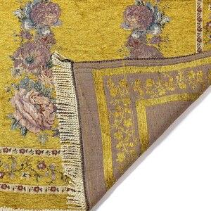 Image 5 - Ev taşınabilir hediyeler katlanır zarif yumuşak Anti kayma dekorasyon yatak odası çiçek halı diz çökmüş hafif seccade pamuk karışımı