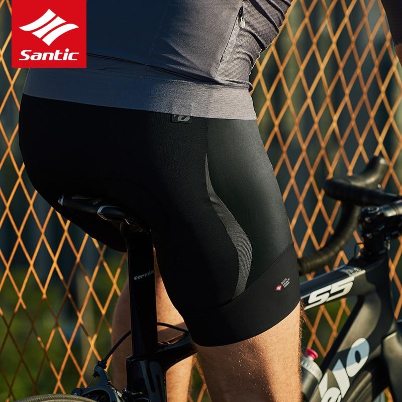 Santic Top Cycling Shorts Italian Imported Fabric Pro MTB Road Bike Shorts 4D Pad Breathable Bicycle Shorts Bermuda Ciclismo