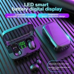 Image 5 - Беспроводные наушники TWS, наушники вкладыши с Blutooth, 5,0 настоящие беспроводные наушники, мини наушники для спортзала iPhone 11 Samsung