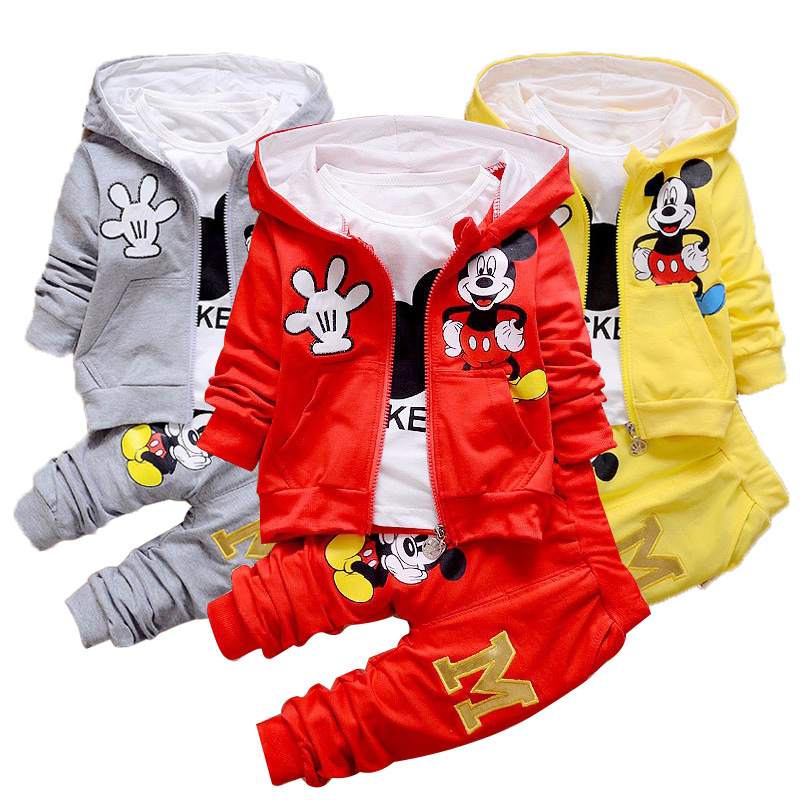 Cute Baby Clothes | Baby Clothing Cute Baby Girl Costume New Cartoon 3 Pieces  Cartoon Print Suit Baby Boy Clothes Hooded Sportswear Baby Clothes