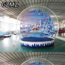 Free shipping  Diameter Inflatale photo booth Christmas Inflatable snow globe ball blow up snowball snow balloons for sale toys free delivery 13feet giant inflatable chicken hot sale nylon oxford blow up chicken model for advertising toys