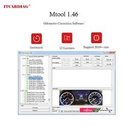 MTool V1.46 Kilometerteller Correctie Software Dongle + Denso adapter + Denso Pin Draden Kabel Kilometerstand Correctie Tool Ondersteunt 2018 +