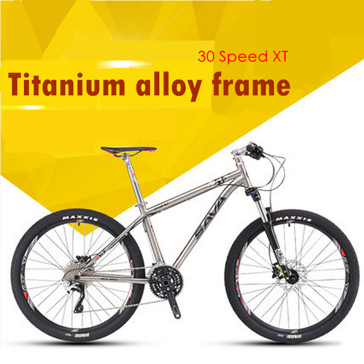 New 26 Inch Titanium Alloy Frame 30 Speed XT Transmission Oil Disc Brakes Mountain Bike Outdoor Downhill MTB Bicycle