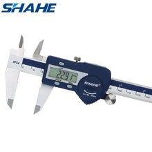 SHAHE закаленная нержавеющая сталь 0 150 мм Цифровой суппорт messchieber штангенциркуль электронный Vernier Micrometro