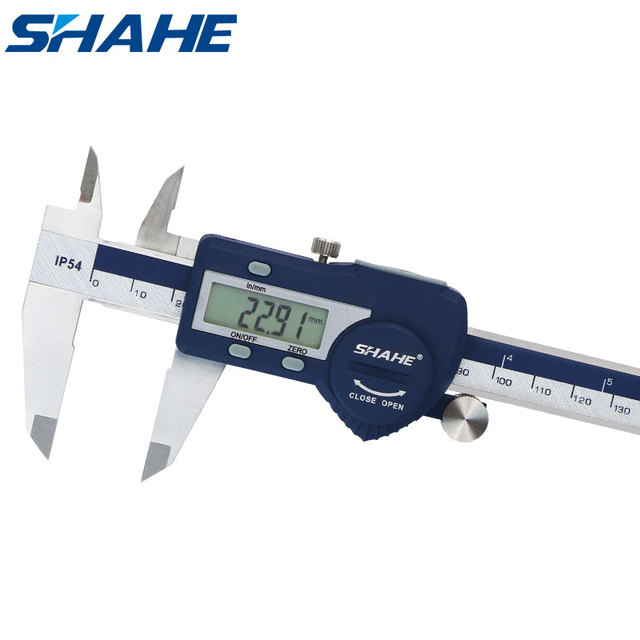 SHAHE Hardened Stainless Steel 0 150 mm Digital Caliper Messschieber Caliper Electronic Vernier Micrometro