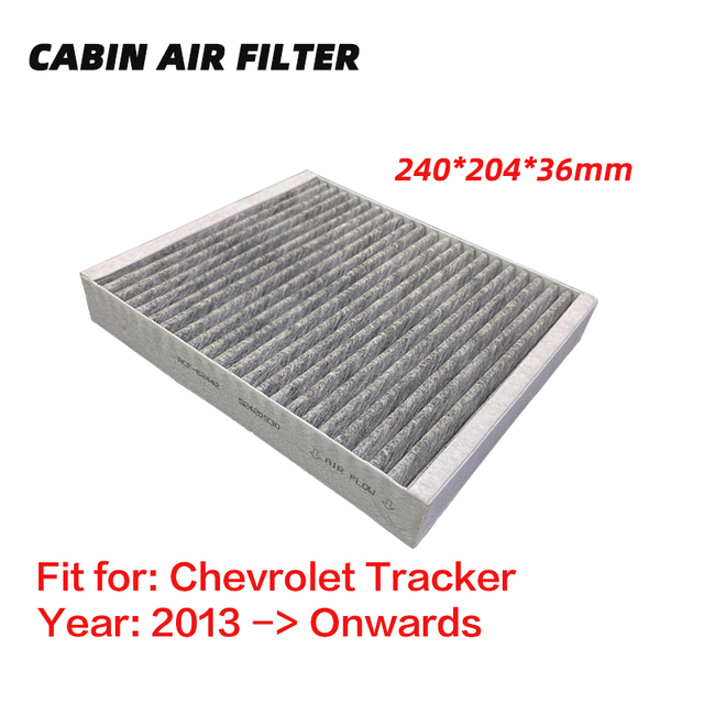 Cabin Air Filter for Chevrolet Tracker (2013 Onwards) Activated High Carbon Pollen Air Filters, Air Conditioner Filter 1pc