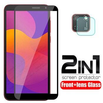 Перейти на Алиэкспресс и купить Защитное стекло 2 в 1 для honor 9 s, Защитное стекло для камеры huawei honor 9 s, xonor, 9 s, s9, honor9s, 5,45 дюйма, защита для экрана, 3D пленка