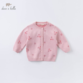 DBZ15284 dave bella autumn infant baby girls fashion fruit print cardigan kids toddler coat children cute knitted sweater image