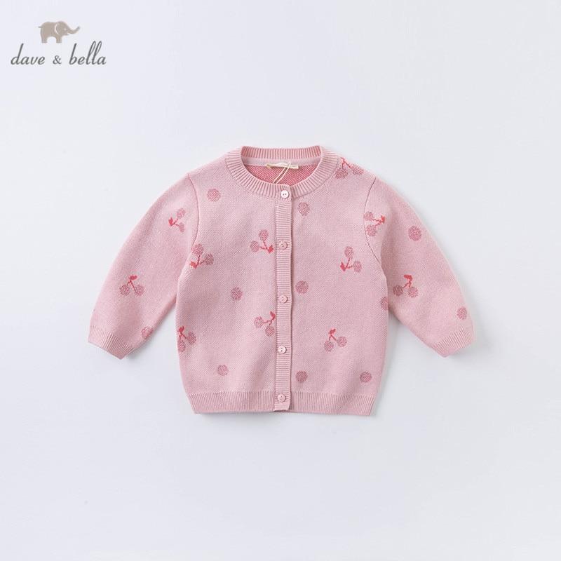 DBZ15284 dave bella/осенний модный кардиган с фруктовым принтом для маленьких девочек; Детское пальто для малышей; Милый вязаный свитер для детей|Свитера| | АлиЭкспресс