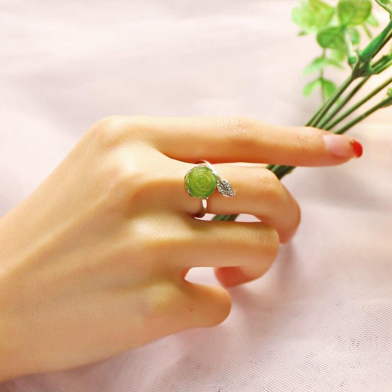 Хорошее ювелирное изделие Настоящее 18 к белое золото 100% натуральный красный гранат драгоценный камень 4.2ct женские кольца для женщин Изыска... - 2