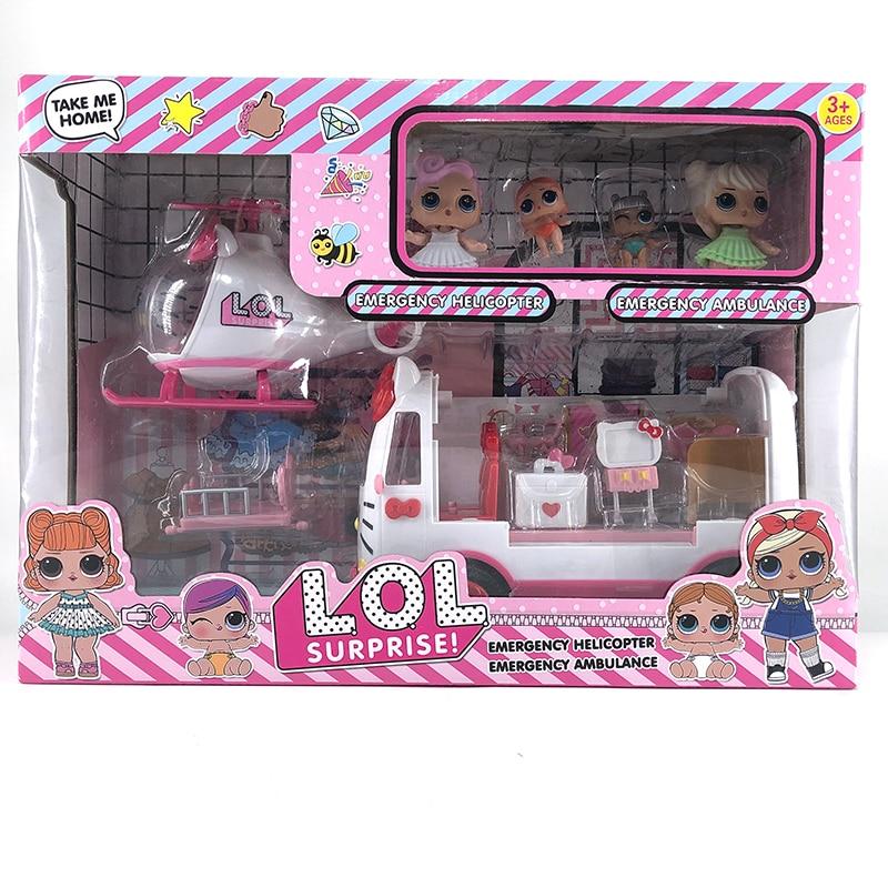 LOL Surprise Dolls Original Big Tractor Picnic car Poupee lols dolls surprise DIY action toys Christmas sets for girl's gift