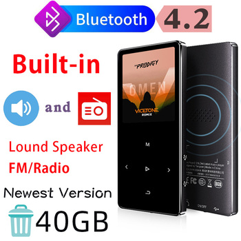 IQQ Touch Screen 16GB MP3 Player with Bluetooth 4.2 Version and Speaker Portable Walkman with Fm/Radio Metal Body Hifi Music