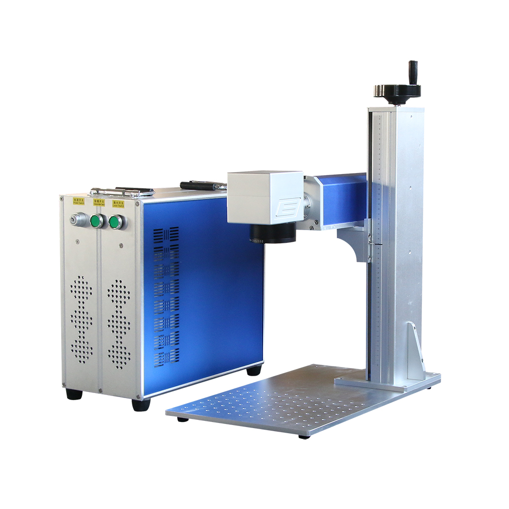 Raycus 20W 30W Fiber Laser Marking Machine Used For Metal Aluminum Gold Silver Brass Phone Steel Engraving And Cutting
