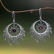 Unique Style Hindu Shiva Fire Earrings Vintage Exaggerated Retro Thail Silver Drop Indian Jewelry