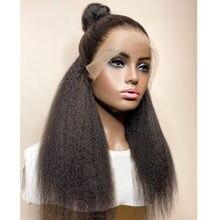 Парик для женщин Yaki без клея, прямые синтетические фронтальные парики на сетке, среднее соотношение цены и качества, для косплея, черный, на ...