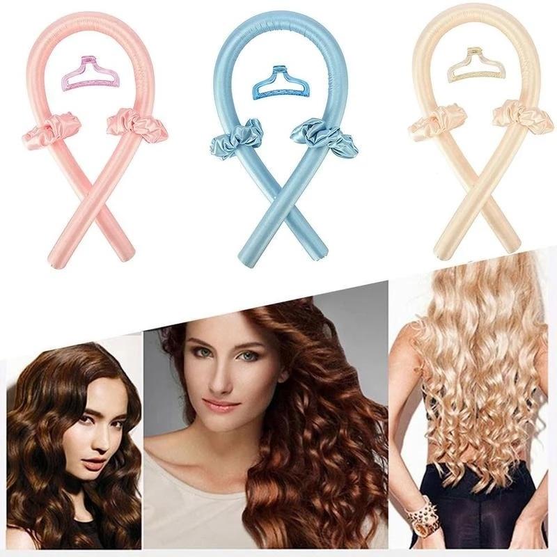 4PCS/Set Heatless Curls Clip Lazy Curler Silk Soft Headband Hair Curly Non-slip Wave Formers Women Hair Styling Tools
