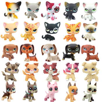 Rare littlest pet shop lps toys dog collection cute sausage old original animal figure kids Christmas gifts