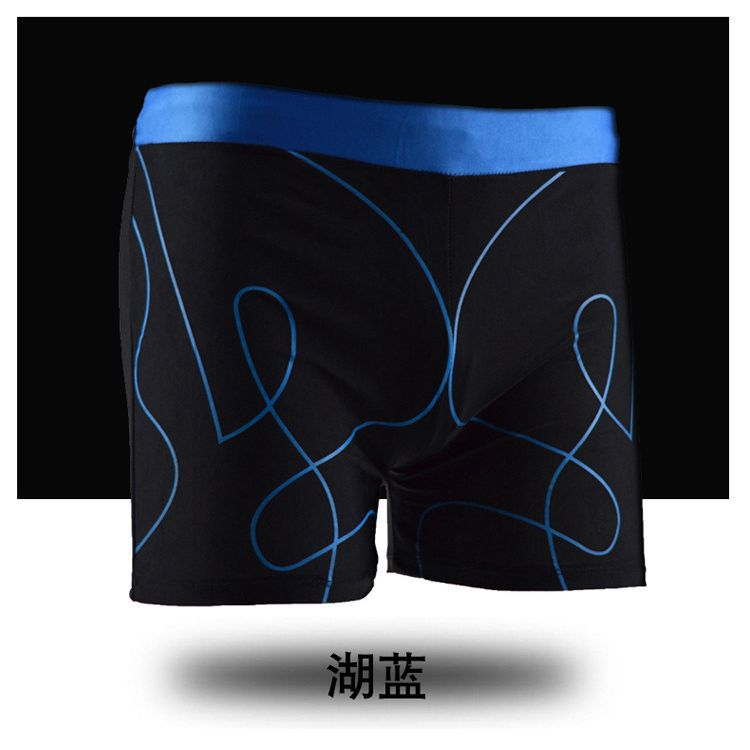 New Style Swimming Trunks Men's Boxer Bathing Suit Wicking Breathable Four Corners Fashion Models Swimming Comfortable Hot Sprin