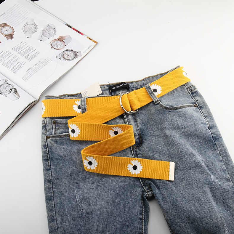 Nuevos Cinturones De Moda Con Margaritas Y Flores Cinturon Informal Liso De Verano Para Mujer Cinturon Para Vestido Faldas Pantalones Tejido De Lona Cinturones De Hombre Aliexpress
