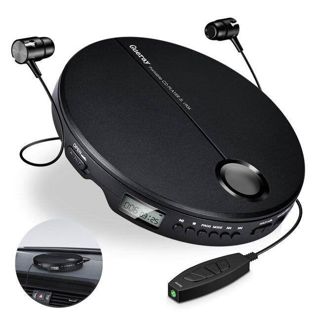 נגן CD נייד עם אוזניות HiFi מוסיקה קומפקטי דיסק ווקמן נגן Reproductor CD אנטי הלם אישי רכב מוסיקה נגן