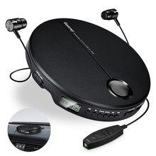 Leitor de cd portátil com fones de ouvido de alta fidelidade música disco compacto walkman player reprodutor cd anti-choque jogador de música do carro pessoal